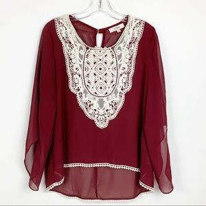 Umgee hi-Lo sheer blouse